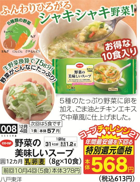 野菜の美味しいスープ