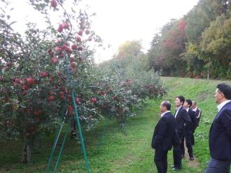 園地での確認風景