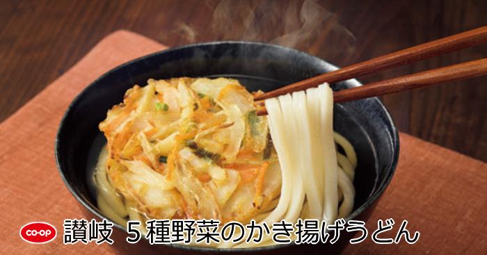 讃岐 5種野菜のかき揚げうどん